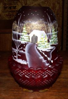 Fenton The Way Home Ruby Christmas Fairy Light 272 1750