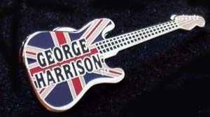 Beatles George Harrison Guitar Pin Limited
