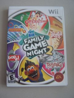 Hasbro Family Game Night 2 Game Complete Nintendo Wii
