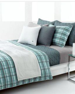 Lacoste Odum Green Plaid Full Queen Comforter NP