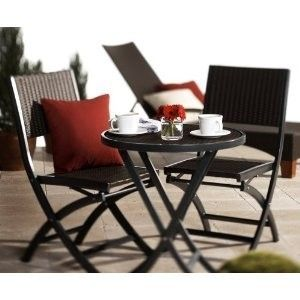Resin Wicker 3 Piece Bistro Set Outdoor Patio Deck Furniture NICE