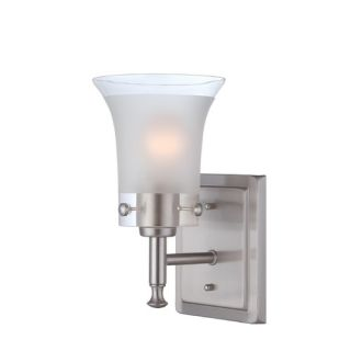 Access Lighting Phoebe Wall Sconce with Clear Glass in Brushed Steel