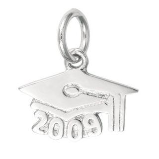 EZ Charms Sterling Silver Graduation Cap 2009 Charm   SCHA1136