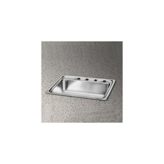 Elkay Lustertone 13 x 13 Undermount Stainless Steel Corner Sink Set