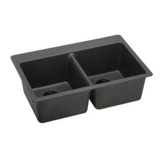 Elkay Lustertone Gourmet 25 x 22 Stainless Steel Sink Set