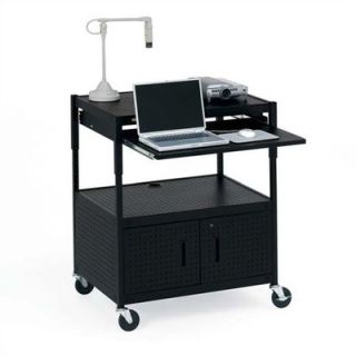 Adjustable Multimedia Presentation Cart with 10 Electrical Outlets