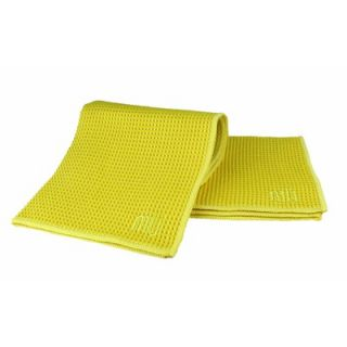 MU Kitchen MUmodern Waffle 12 x 12 Microfiber Dish Cloth in Lemon