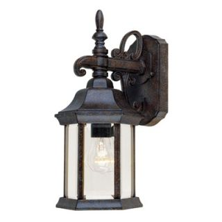 Savoy House 14.25 x 6.25 Outdoor Wall Lantern in Rustic Bronze