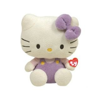 TY Beanie Babies 10 Hello Kitty in Lavender