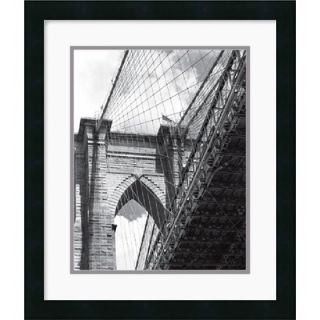 the Brooklyn Bridge by Phil Maier Framed Fine Art Print   20 x 17
