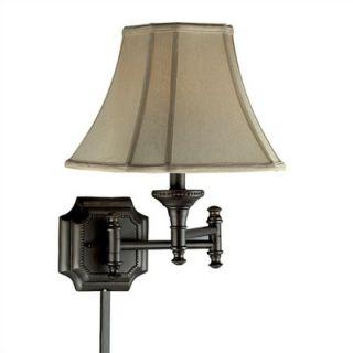Kenroy Home Wentworth 17 Swing Arm Wall Lamp   33054BBZ