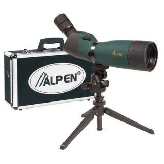 Alpen Outdoor 20 60x80 Waterproof Spotting Scope Kit with 45 Degree