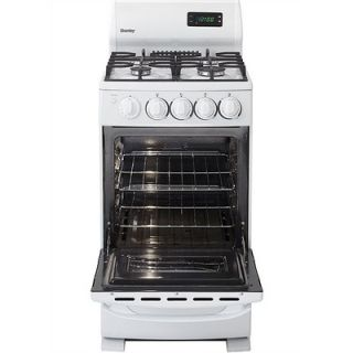 Danby 20 4 Burner Gas Range with Oven Window in White   DR2099WGLP