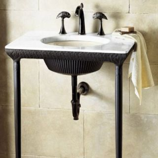 kohler 21 5 console table top precut for iron flute bathroom sink