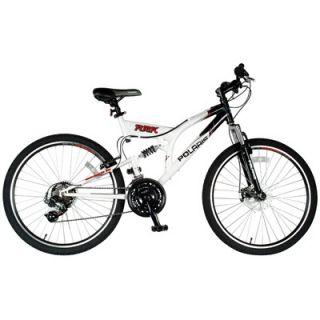 Polaris Mens 21 Speed RMK Dual Suspension Mountain Bike