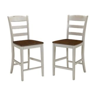 Home Styles Monarch 24 Stool in Antiqued White Sanded and Distressed
