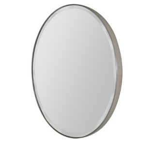 Uttermost Fifi Oval Beveled Mirror in Antique Silver