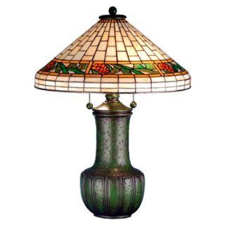 Meyda Tiffany 25 H Bungalow Pine Cone Table Lamp