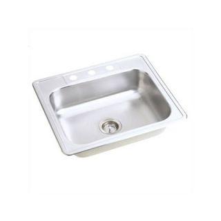 Elkay Dayton 25 x 22 Stainless Steel Single Bowl Top Mount Sink Set