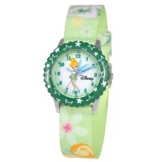 Disney Kids Tinker Bell Time Teacher Watch in Green