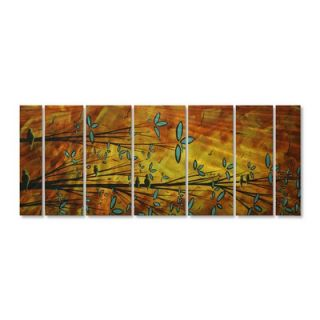 My Walls Two Birds by Megan Duncanson, Abstract Wall Art   23.5 x 60