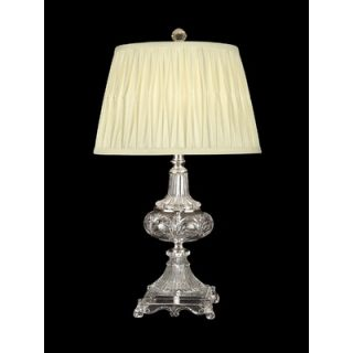 Dale Tiffany 26 One Light Crystal Table Lamp in Nickel