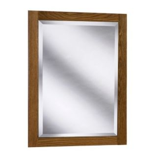 Coastal Collection Amalfi Series 24 x 33 Red Oak Framed Mirror in