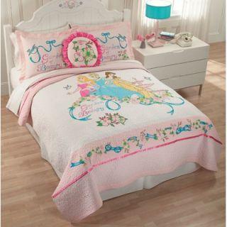 Disney Bedding Disney Garden of Beauty Full / Queen Quilt and Valance