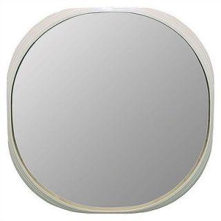 Art Dreams Deja Vu Mirror White Round Mirror   Large   11 2 10291
