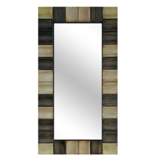 Crestview Resin Checkerboard Wall Mirror in Gold and Bronze