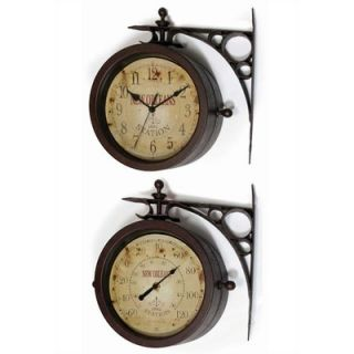 Infinity Instruments Two Sided Charleston Clock Thermometer