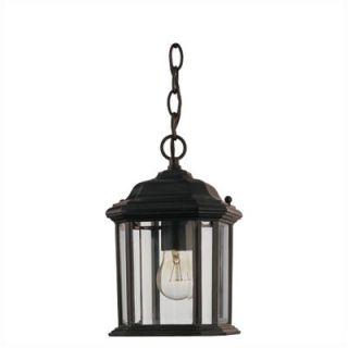 Sea Gull Lighting Kent Outdoor Pendant Lantern in Black   60029 12