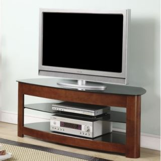 OSP Designs Wood and Glass 54 TV Stand   TV2449DC
