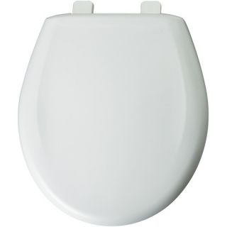 Round Solid Plastic Toilet Seat with Top Tite Hinges