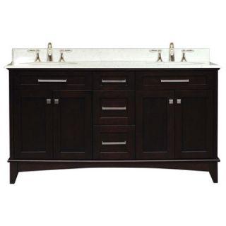 Water Creation Manhattan 60 Double Sink Vanity   MANHATTAN60