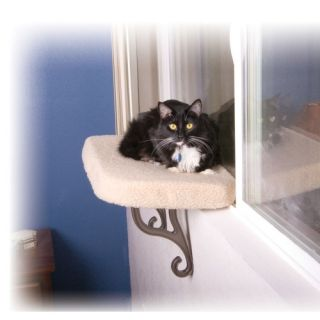 Deluxe kitty window seat chaise cat small dog perch new for Cat window chaise