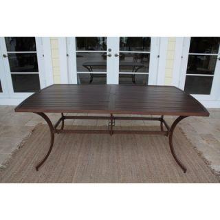 Hospitality Rattan Outdoor Slatted Aluminum Rectangular Dining Table