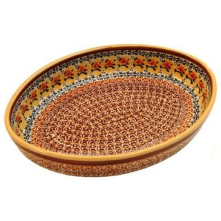Polish Pottery 12 Oval Baking Pan   Pattern DU70   350 DU70