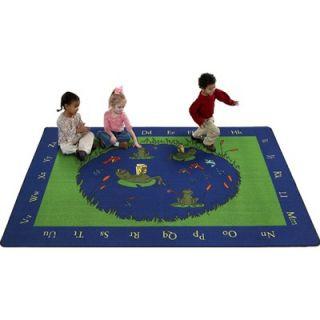 Flagship Carpets Educational Animal Frogs Kids Rug