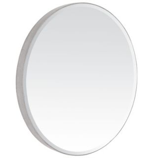Majestic Mirror Contemporary Beveled Oval Mirror in Antique Silver
