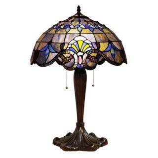 Chloe Lighting Tiffany Style Blue Victorian Table Lamp   CH16A74TL