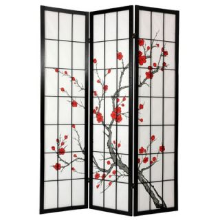 Oriental Furniture 72 Cherry Blossom Decorative Room Divider