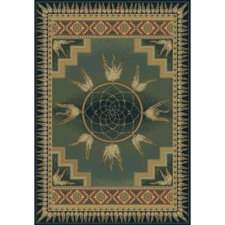 United Weavers of America Genesis Dream Catcher Blue/Green Rug   130