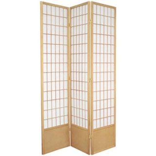 Oriental Furniture 78 Window Pane Decorative Room Divider in Natural