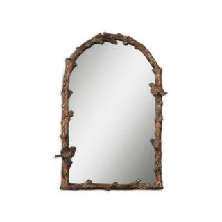 Uttermost Paza Arch Mirror in Distressed Antiqued Gold