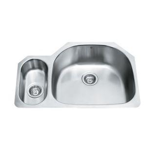 Vigo 80/20 Double Bowl D Shaped Stainless Steel Undermount Kitchen