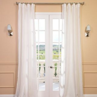 Half Price Drapes Signature Lace French Linen Sheer Curtain Panel