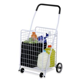 Honey Can Do Four Wheel Rolling Utility Cart in White   CRT 01513