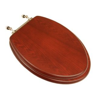 Trimmer Marbleized Molded Wood Toilet Seat in Tan   M 88