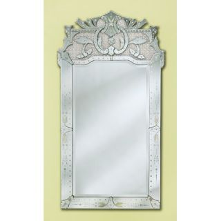 Venetian Gems Maxime Venetian Wall Mirror in Silver